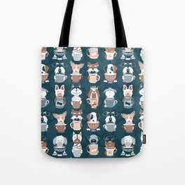 Doggie Coffee and Tea Time II Tote Bag