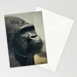 Pensive Gorilla Stationery Cards