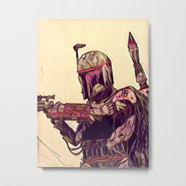 Boba Fett: Bounty Hunter Metal Print
