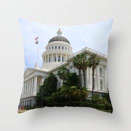 California State Capitol Throw Pillow