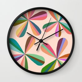 Abstraction_Blossom_Colorful_Day_Minimalism_001 Wall Clock