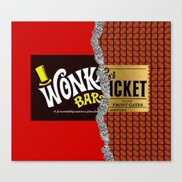 Willy Wonka Bar Canvas Print