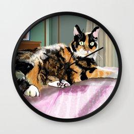 Cali Q Kitten Wall Clock