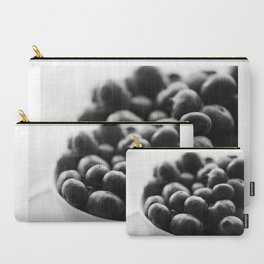 black and white blueberry Carry-All Pouch