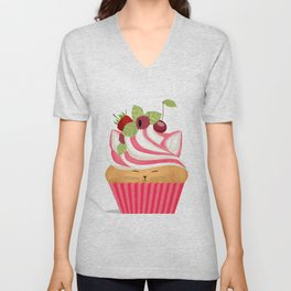 Pinkberry Cuppycat Unisex V-Neck