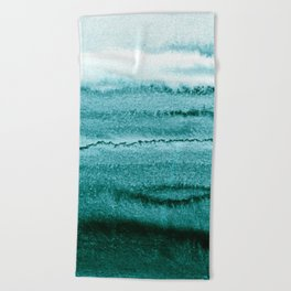WITHIN THE TIDES - OCEAN TEAL Beach Towel