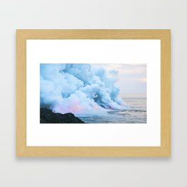 Smoke On The Water Framed Art Print