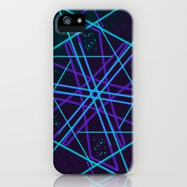 Lines and Hexes iPhone Case