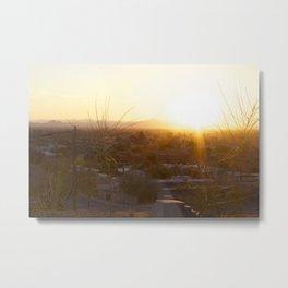 Suburban Desert Sunrise Metal Print