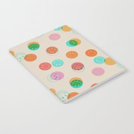 Smiley Face Stamp Print Notebook