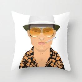 Raoul Duke Throw Pillow