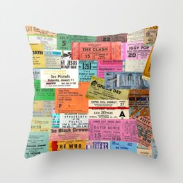 I miss concerts - ticket stubs Throw Pillow