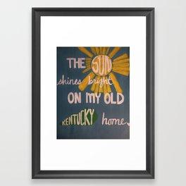 the sun shines bright Framed Art Print