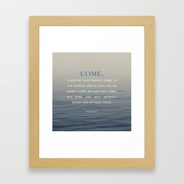 Isaiah 55:1 Framed Art Print