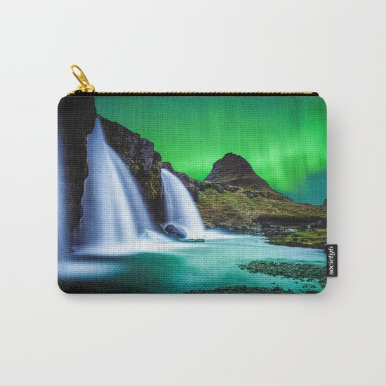 Aurora Borealis Waterfall Carry-All Pouch