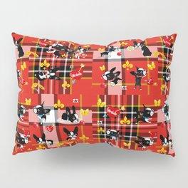 Mirabelle the boston terrier tartan Pillow Sham