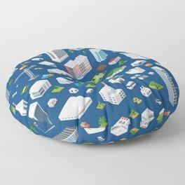 isometric seamless pattern megapolis Floor Pillow