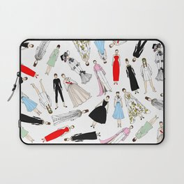 Audrey Hepburn Fashion (Scattered) Laptop Sleeve