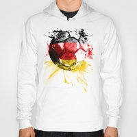 germany Hoodies featuring  football germany by seb mcnulty