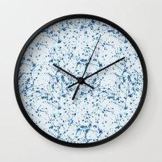 Splat Blues Wall Clock