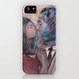 Lovers from Magrite iPhone Case