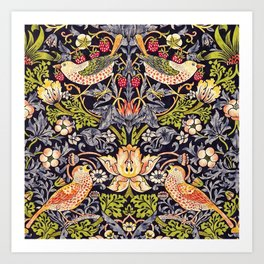 William Morris Strawberry Thief Art Nouveau Painting Art Print