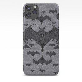 Balinese Bat - Haunted Mansion Damask iPhone Case