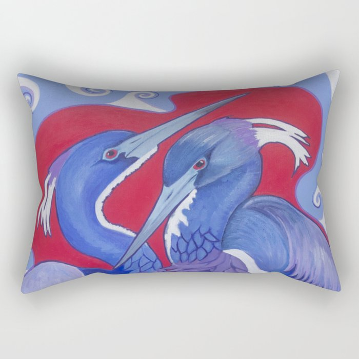 Triumphant Tricolored Herons Rectangular Pillow