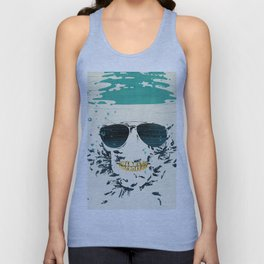 Sleeping with the fishes Unisex Tank Top