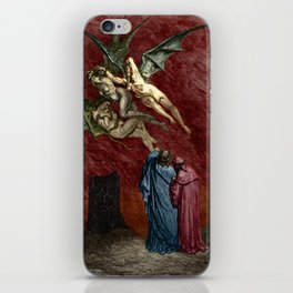 Dante and the Erinyes iPhone Skin