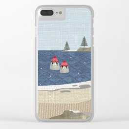 Christmas Seals Clear iPhone Case