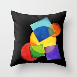 Rainbow Candy Geometric Throw Pillow