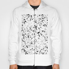 black paint splatter Hoody