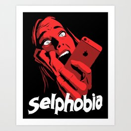 Selphobia Art Print