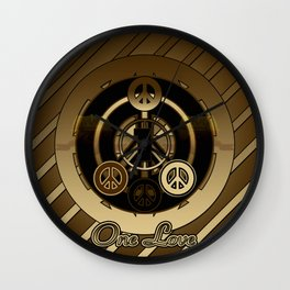 One Love (Brown) Wall Clock