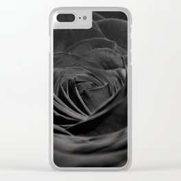 Grey Rose Clear iPhone Case