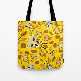 Cute Cartoon Giraffe Pattern Tote Bag