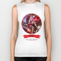 league of legends Biker Tanks featuring League Of Legends - Ashe by TheDrawingDuo