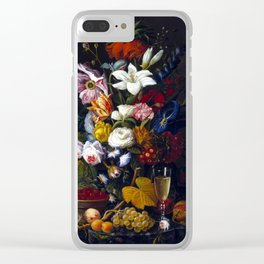 Severin Roesen Victorian Bouquet Clear iPhone Case