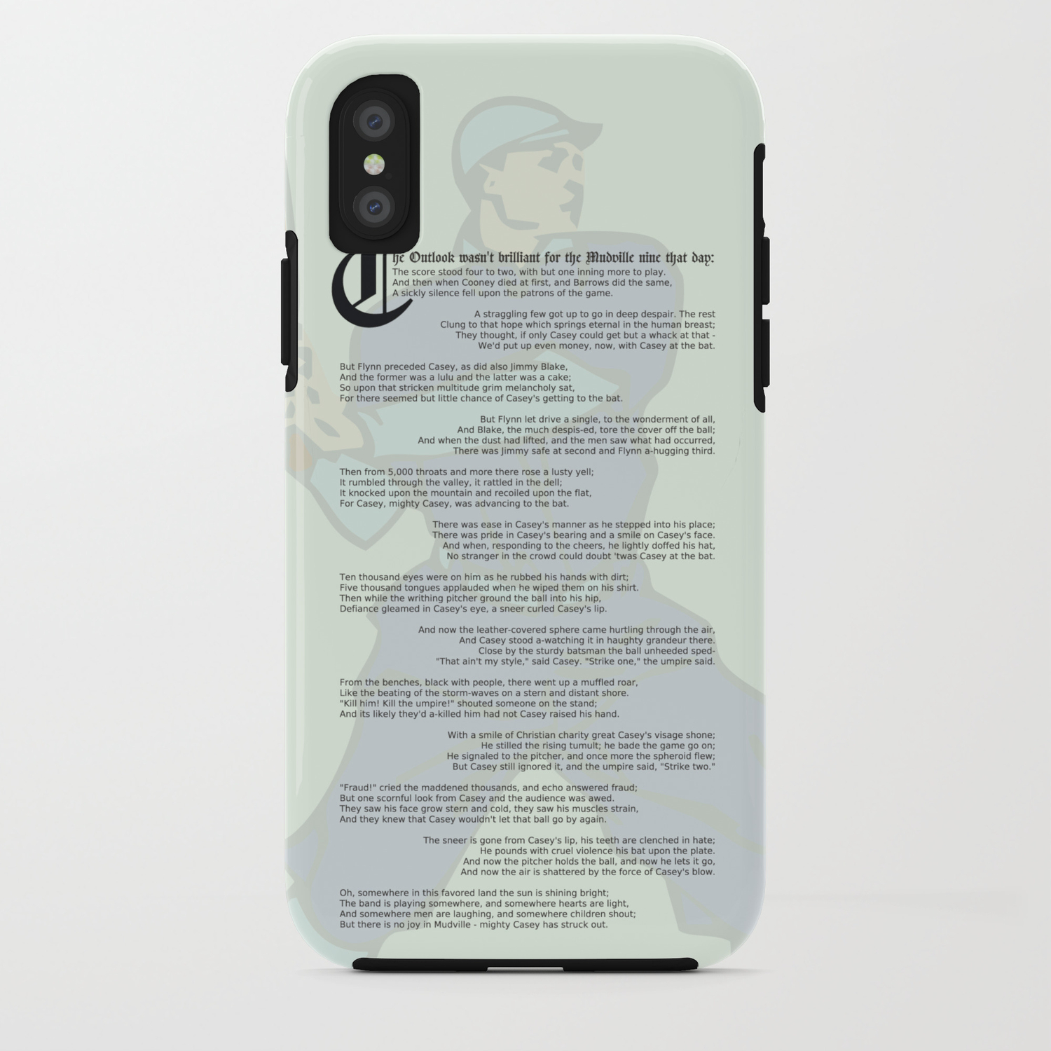Casey at the Bat iPhone Case