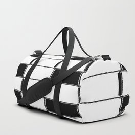 Quartrate in black and white Duffle Bag