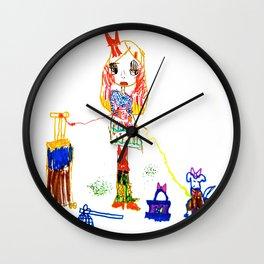 Girly Travel Wall Clock