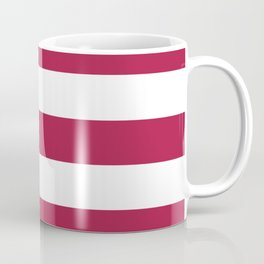 French wine - solid color - white stripes pattern Coffee Mug