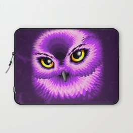 Pink Owl Eyes Laptop Sleeve