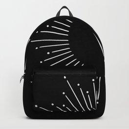 Sunburst Moonlight Silver on Black Backpack
