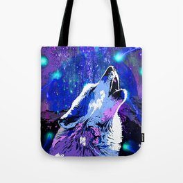 WOLF MOON AND SHOOTING STARS Tote Bag
