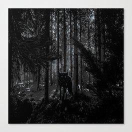forrest wolf Canvas Print