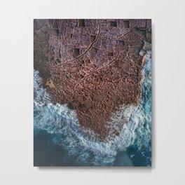 Salt Ponds in Gozo island Metal Print