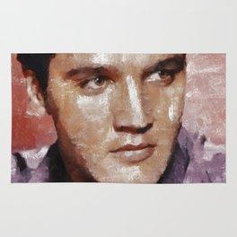 Elvis Presley Painting Rug