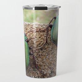 Iridescent  Green Beetles Travel Mug